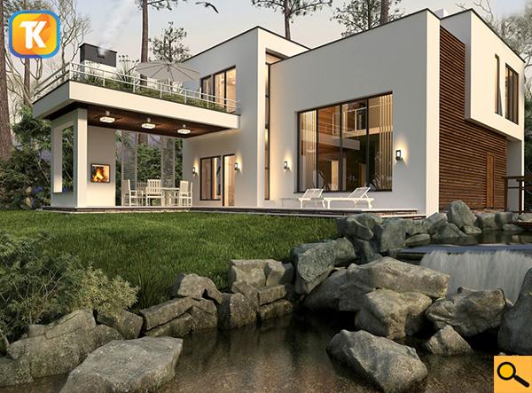 Проект загородного дома из газобетона YTONG изначально разработан с учетом особенностей материалов YTONG и их свойств, позволяющих сделать строительство
